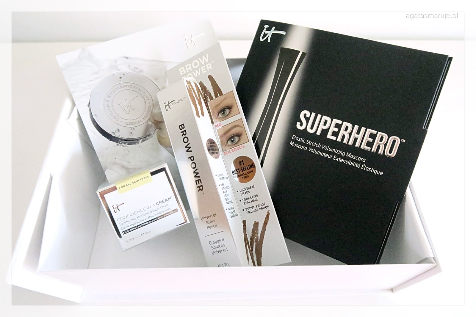 It Cosmetics Brow Powder, Confidence In A Cream, mascara Superhero