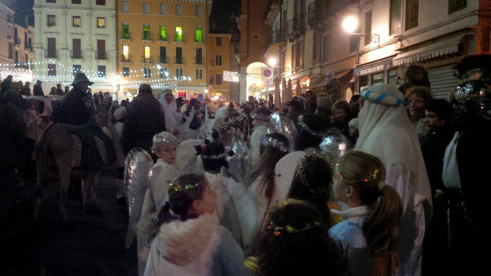 The procession of the Living Nativity Scene in Vicenza