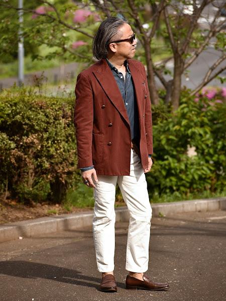 40代向けのテーラードのメンズ スタイル