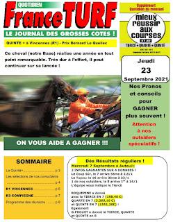 Pronostic quinté+ pmu jeudi Paris-Turf TV-100 % 23/09/2021