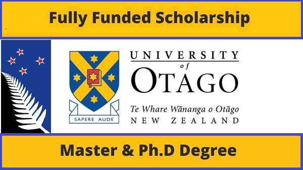 منحة جامعة أوتاجو الدراسية 2021 في نيوزيلندا [ممولة بالكامل]