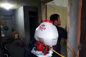 Tim Disinfektan Jurnalis Bela Negara Kembali Semprotkan Cairan Disinfektan di Kawasan Padat Penduduk di Tiga Kecamatan
