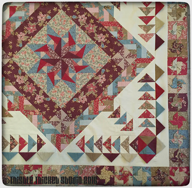 Thistle Thicket Studio, medallion quilt, quilt guild challenge