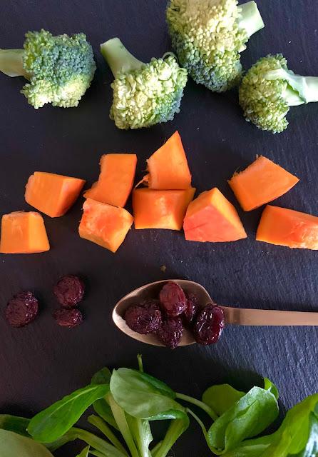 Winterlicher Feinschmecker-Salat, Rezept, glutenfrei, vegan, schnell, einfach, Winterrezept, schnelle Rezepte, Salat,  Gemüse, vitaminreich, leicht