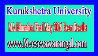 Kurukshetra University MA Education Final May 2016 Exam Results