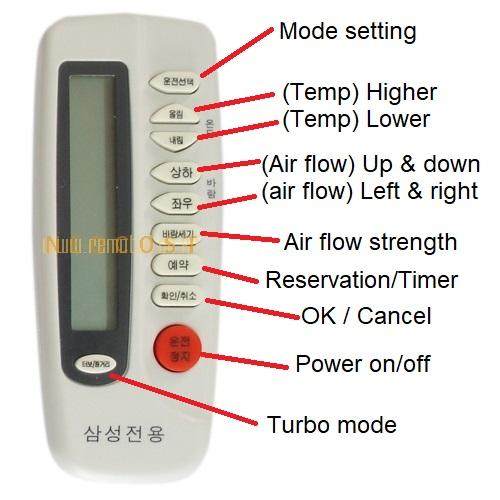 10원 Tips: English guide to Korean air conditioner remote