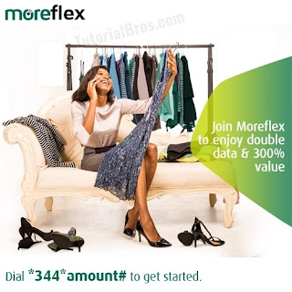 Get up to 300% or more of any moreflex bundle you buy.