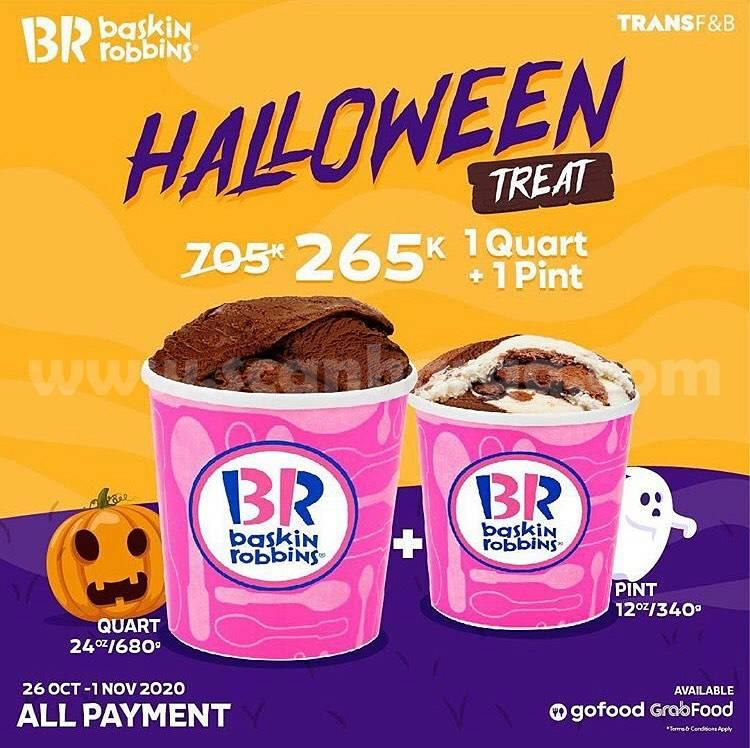 Baskin Robbins Hallowen Treat - Quart 240oz/680 + Pint 12oz/340 only 265K