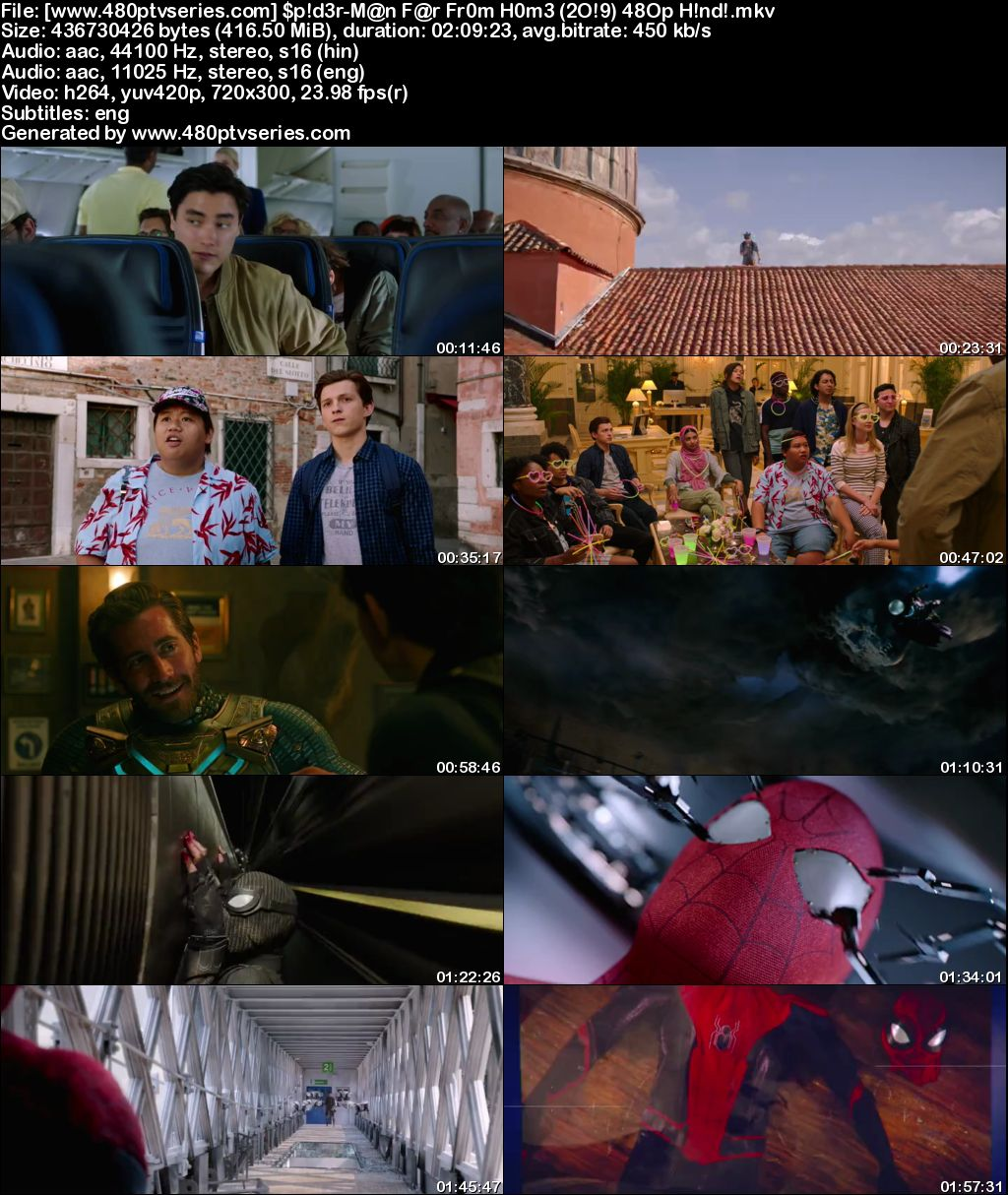 Spider-Man: Far from Home (2019) 400MB Full Hindi Dual Audio Movie Download 480p Bluray Free Watch Online Full Movie Download Worldfree4u 9xmovies