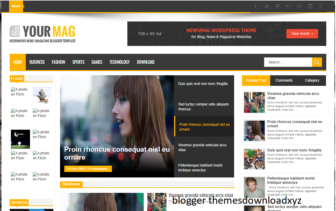 YourMag Blogger Template Free Download