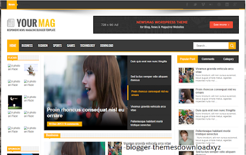 YourMag Blogger template Free Download   YourMag Blogger theme Download
