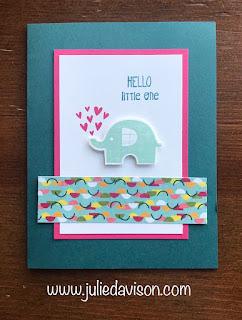 Stampin' Up! Little Elephant Baby Card ~ 2019-2020 Annual Catalog ~ www.juliedavison.com
