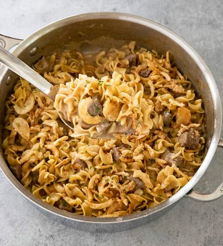 Creamy French Onion Beef and Noodles