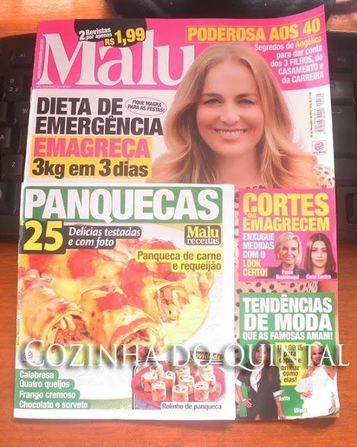 Encarte de receitas (Maluzinha) da revista Malu