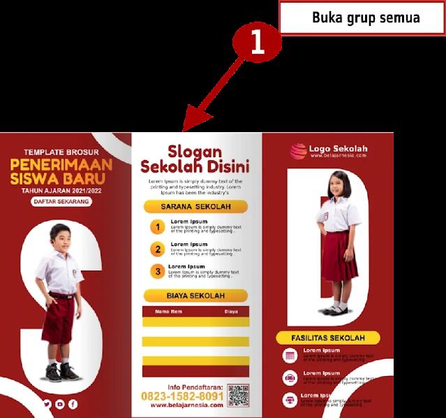 Download Contoh Brosur PPDB Sekolah Dasar Comp CorelDraw