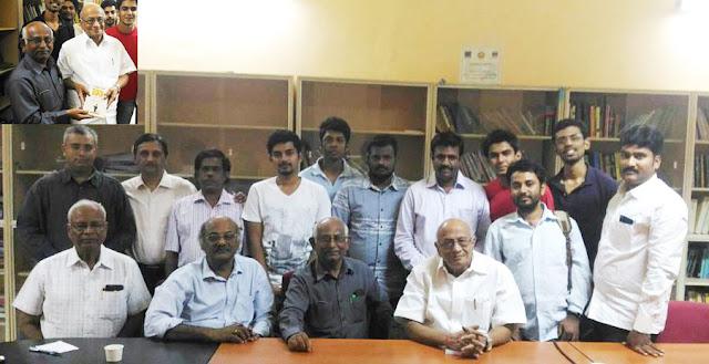 Interactive session with T K Rangarajan MP at IIT Madras organised by ezine PreSense