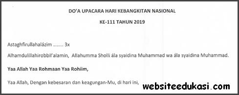 Doa Upacara Hari Kebangkitan Nasional 2019