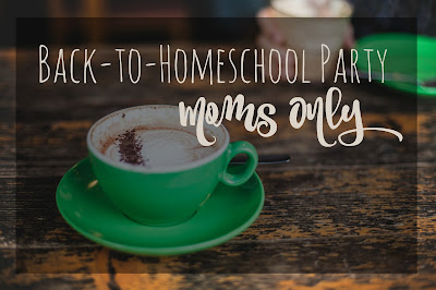 Back-to-Homeschool Party Moms Only (with free printable get-to-know-you mixer)