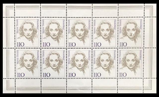 1997 Germany Marlene Dietrich minisheet