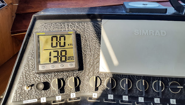 Photo of the depth sounder/log working