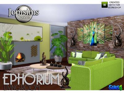 Ephorium Living Room Эфориум Гостиная для The Sims 4 современный диван в 4 цветах и белых линиях. Камин. белый или черный. Я использую bb.moveobjects, чтобы разместить его в центре стены. 1 растение 3 горшка, разные. 2 картины для стен. 2 разных стиля, всего 4 стиля, 4 стиля 1. 2. Часть 2 подушки для дивана. В 4 цветах. декоративные подушки дивана. 4 стиля. 1 скульптурный стол. 4 металлических тона. 1 настенная скульптура. 3Тон металла. Приятная атмосфера. вкусный диван. Одним словом, благополучие. Автор: jomsims