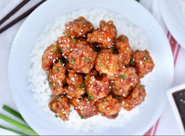 Honey Sesame Chicken #dinner #chicken