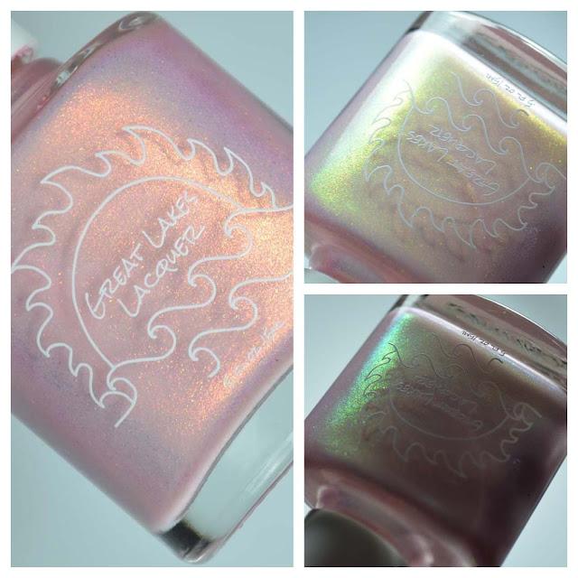 petal pink shimmer nail polish