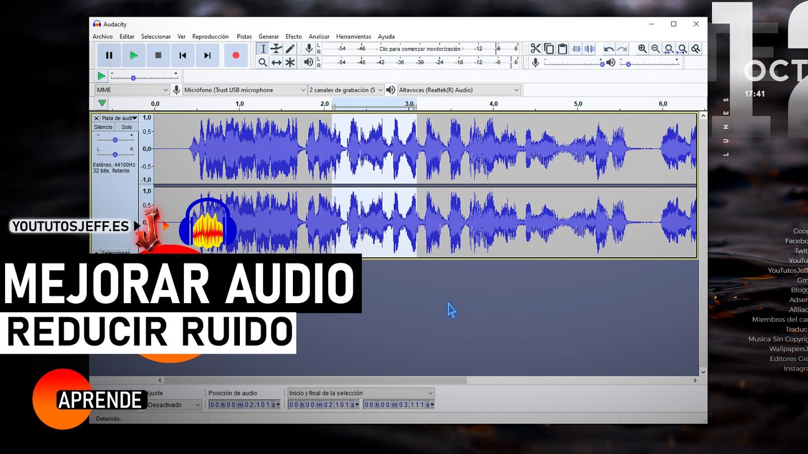 Como Mejorar la Calidad de Audio, Reducir Ruido del Micrófono con Audacity