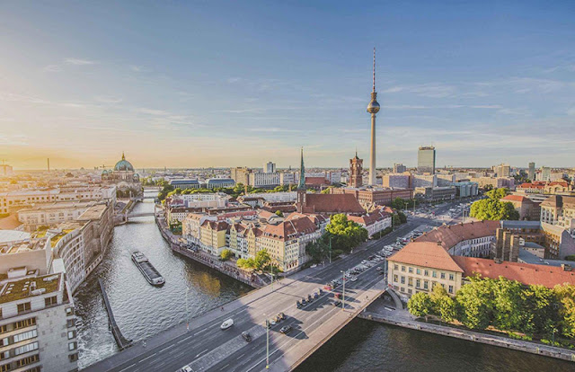 Chegada em Berlim na Alemanha