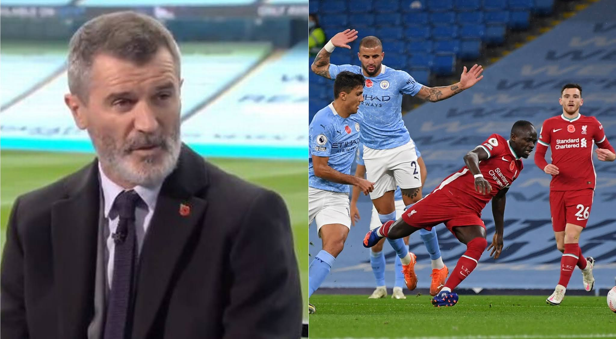 Roy Keane label Walker 'idiot' for challenge on Sadio Mane.