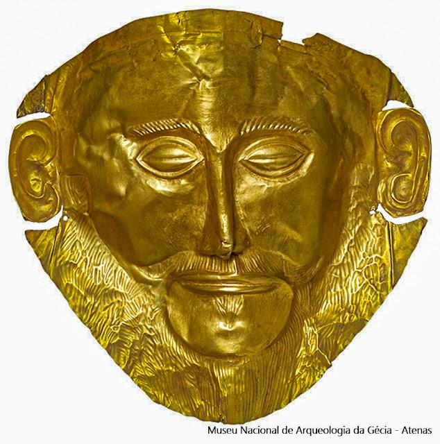 Máscara de Agamenon, Museu Nacional de Arqueologia de Atenas, Grécia