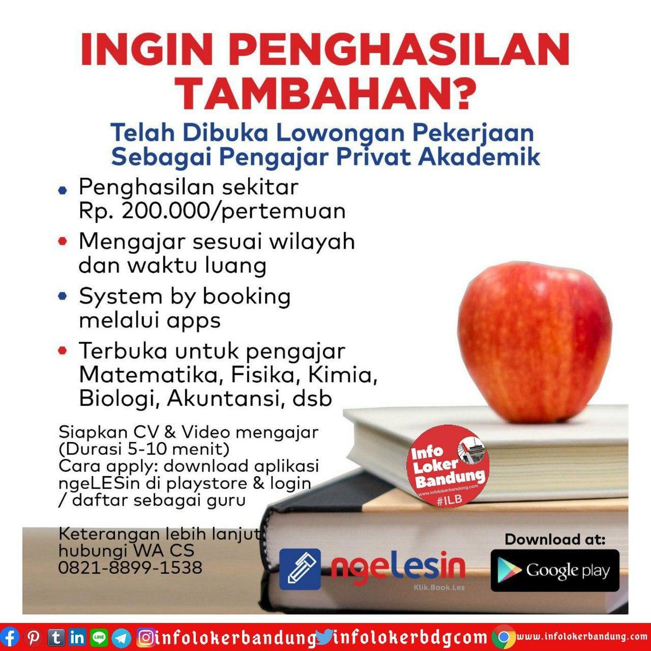 Lowongan Kerja Guru Ngelesin Juni 2020 - Info Loker ...