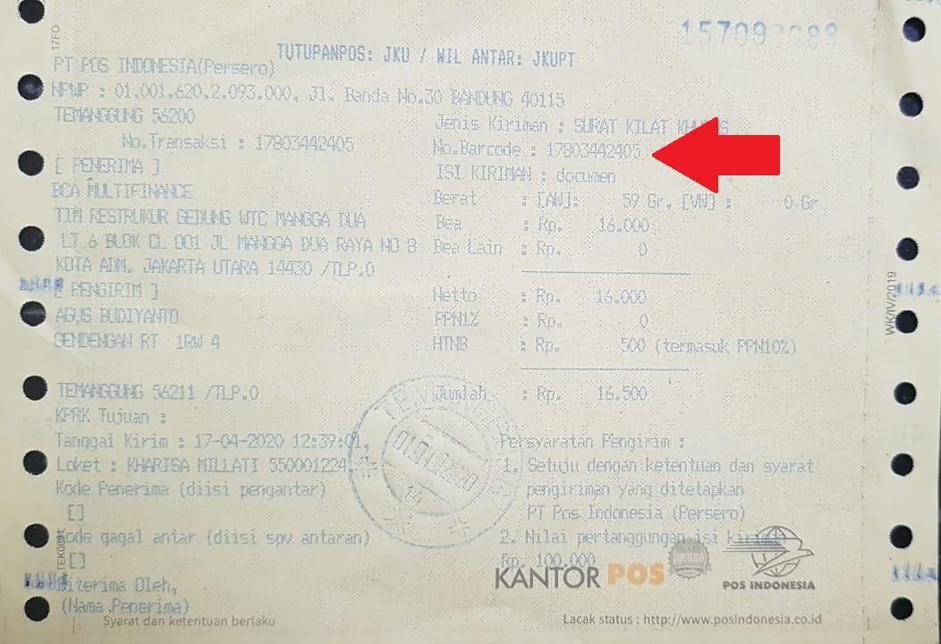 Cara Mengirim Dokumen Surat Di Kantor Pos Indonesia Aditya Web Com