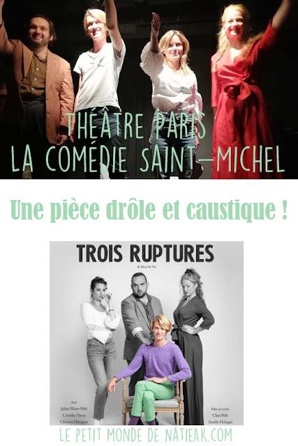 avis Théâtre Paris Trois ruptures
