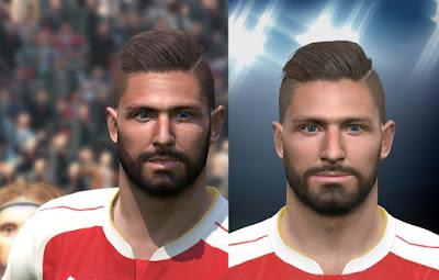 PES 2016 Olivier Giroud (Arsenal) Face by NajwanHamidi