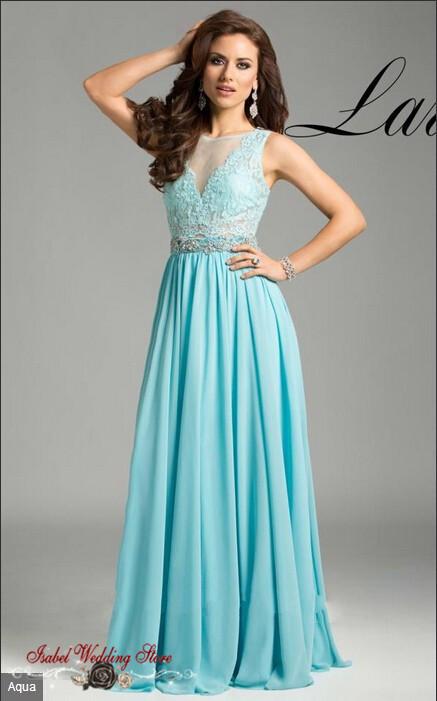 f036c5c9d Vestidos de noche color azul celeste – Vestidos de fiesta