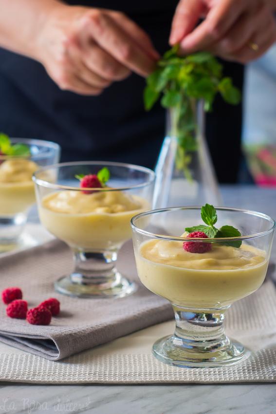 Mousse helada de mango y plátano | sin azúcar, sin lactosa y sin gluten