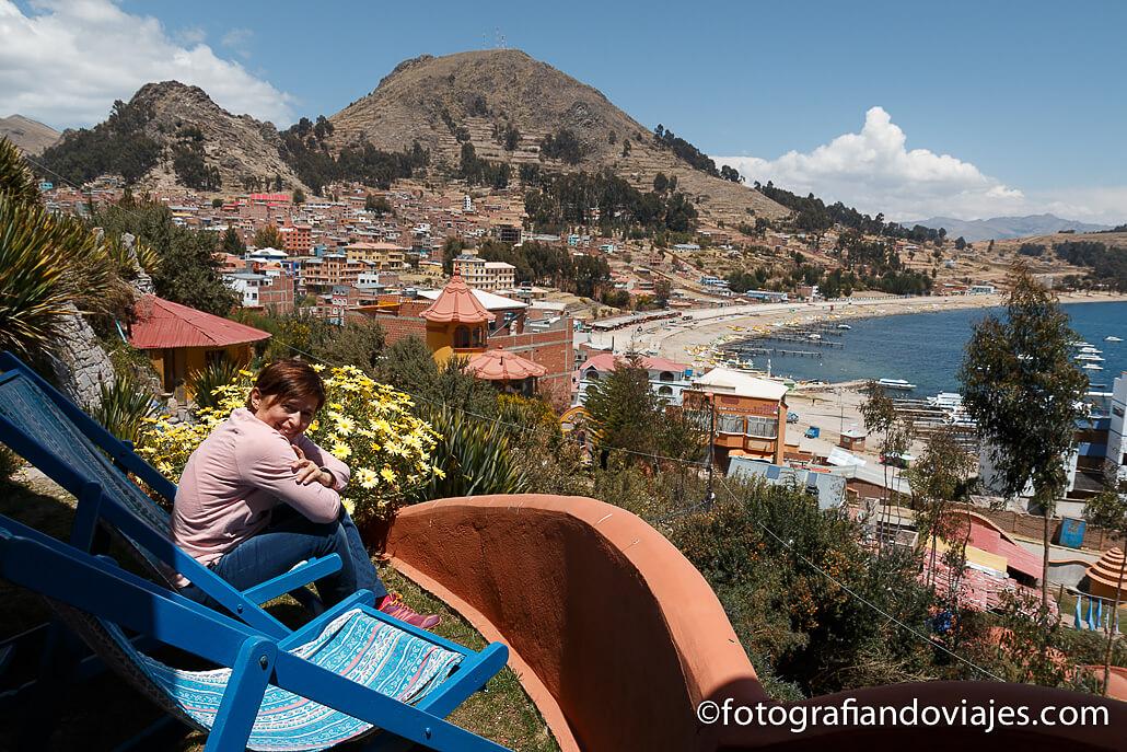 Vistas de Copacabana y el lago Titicaca