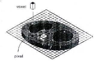 Pixel dan voxel pada gambar CT scan