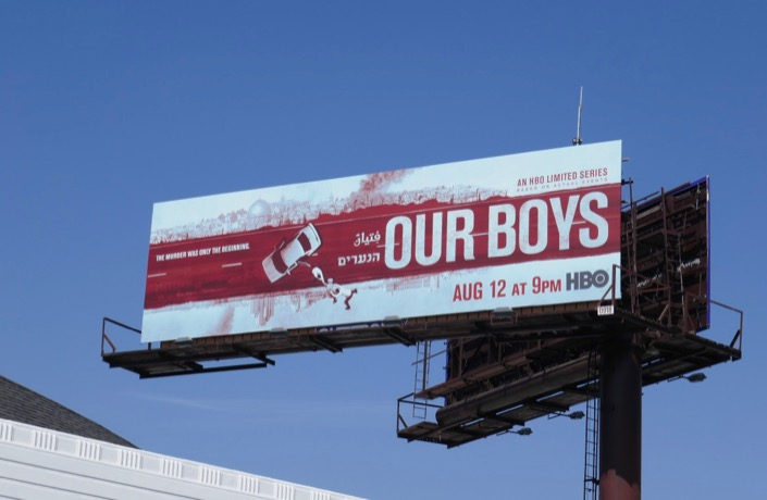 Our Boys series launch billboard