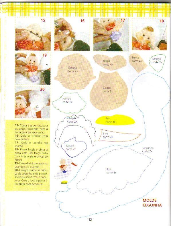 Feltro+9 - Enfeite de porta para maternidade menina