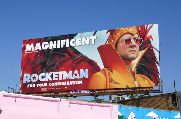 Rocketman movie Magnificent FYC billboard