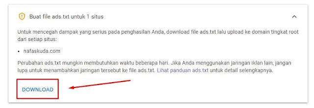 Download file Ads.txt Google AdSense