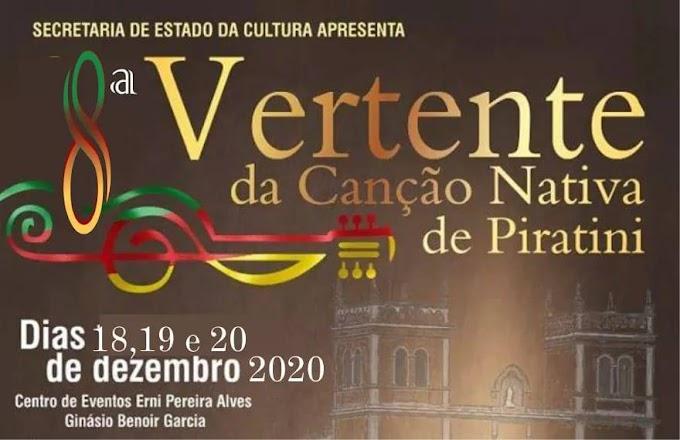 8ª Vertente da Canção Nativa será realizada de 18 a 20 de dezembro