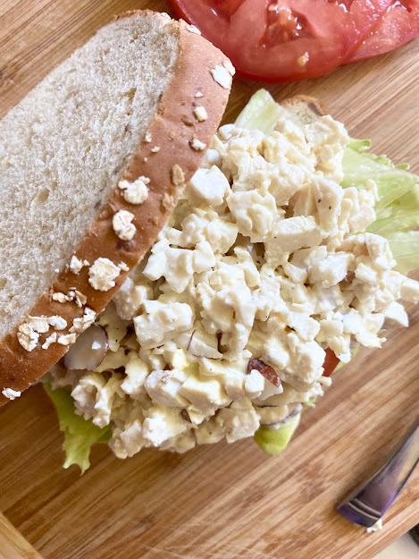 Homemade Chicken Salad #chickensalad #sweetsavoryeats