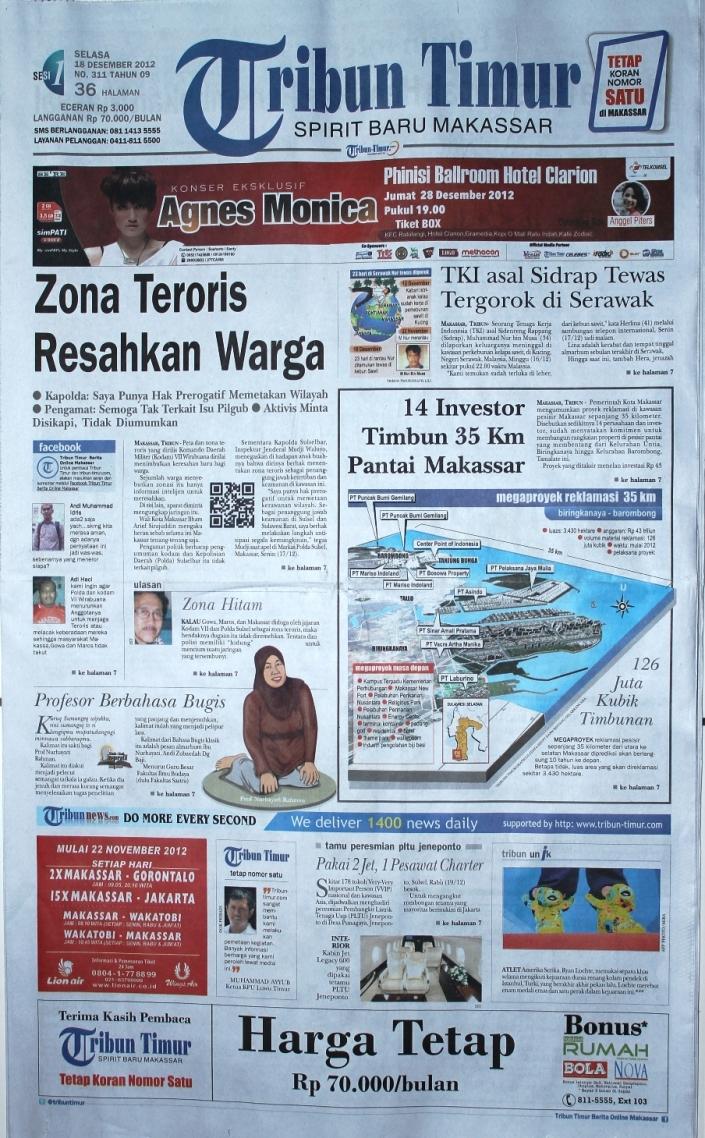 Koran di Kota Makassar | daon lontar