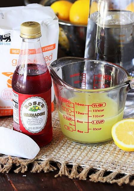 Homemade Pink Lemonade Ingredients Image