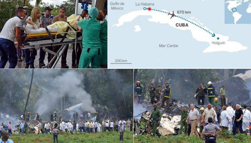 Aereo caduto a Cuba: due giorni di lutto, oltre 100 vittime nell'incidente aereo