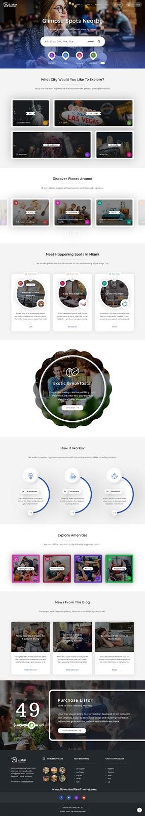 Directory and Listing WordPress Theme