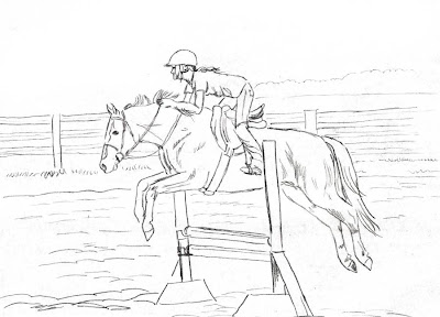 horses jumping coloring pages - photo#10